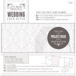 White Damask Screen Print - Papermania Ever After Wedding Blank Cards 25/Pkg