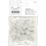Silver Organza - Papermania Ever After Wedding Ribbon Bows 27mm 100/Pkg