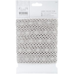 Silver 36mm - Papermania Ever After Wedding Crochet Trim 10m