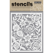 "Bold Floral - Hero Arts Stencil 6.25""X5.25"""
