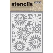 """Bold Daisy - Hero Arts Stencil 6.25""""X5.25"""""""