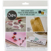 "Basics Assorted - Sizzix Paper Leather 6""X6"" Sheets 20/Pkg"