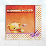 Strawberry Sweetie - Cute Birthday Bear A4 Topper Set