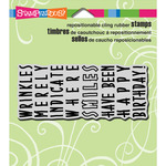 """Birthday Wrinkles - Stampendous Cling Stamp 3.5""""X4"""""""