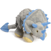 Gray - GoDog Dinos Frills With Chew Guard Large