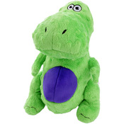 Green - GoDog Dinos T-Rex With Chew Guard Small