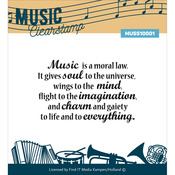 """Music Series - Find It Trading Clear Stamp 2""""X3"""""""