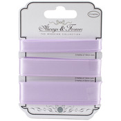 Lilac - Craft Consortium Always & Forever Satin Ribbon 3yd 3/Pkg