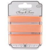 Peach - Craft Consortium Always & Forever Satin Ribbon 3yd 3/Pkg