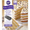Easy Layers 8 inches  Round Cake Pan Set 4pc Wilton-Easy Layers Round Cake Pan Set. Baking layer cakes is easier than ever with this pan set! One cake mix makes four perfect layers, ready to stack and fill. The possibilities are endless! This package contains four 8 inch round cake pans. Dishwasher safe. Imported.