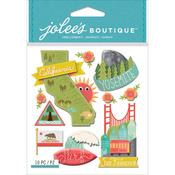 California Jolees Boutique Dimensional Stickers