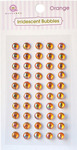 Orange Iridescent Self-Adhesive Bubbles - Queen & Co