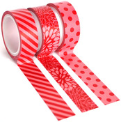 Red Trendy Tape Trio - Queen & Co