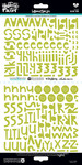 "Homespun Olive You Alpha - Illustrated Faith Basics Stickers 6""X12"""