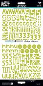 "Homespun Olive You Alpha - Illustrated Faith Basics Stickers 6""X12"""