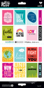 Word Art 6 x 12 Sticker Sheet - Illustrated Faith