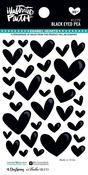 Black Eyed Pea Enamel Heart Stickers - Illustrated Faith