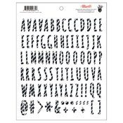 Striped Puffy Alpha Stickers - Attwell - Fancy Pants
