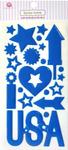 Stars & Stripes Epoxy Icon Stickers - Queen & Co