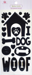 Woof Epoxy Icon Stickers - Queen & Co