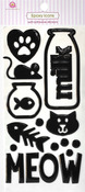 Meow Epoxy Icon Stickers - Queen & Co