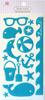 Summer Splash Blue Epoxy Icon Stickers - Queen & Co
