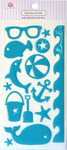 Summer Splash Blue Epoxy Icon Stickers - Queen & Co
