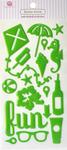 Summer Fun Green Epoxy Icon Stickers - Queen & Co