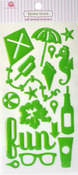 Summer Fun Green Epoxy Icon Stickers - Queen & Co