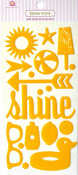 Summer Sunshine Yellow Epoxy Icon Stickers - Queen & Co