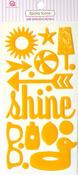 Summer Sunshine Yellow Epoxy Icon Stickers - Queen & Co