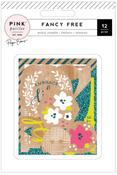 Fancy Free Wood Veneer Pieces - Pink Paislee