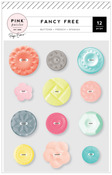 Fancy Free Buttons - Pink Paislee