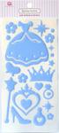 Princess Blue Epoxy Icon Stickers - Queen & Co
