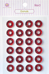 Red Donuts Stickers - Queen & Co