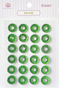 Green Donuts Stickers - Queen & Co