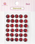 Red Diamonds Stickers - Queen & Co