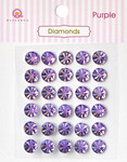 Purple Diamonds Stickers - Queen & Co
