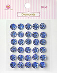 Blue Diamonds Stickers - Queen & Co