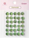 Green Diamonds Stickers - Queen & Co
