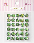 Green Diamonds Stickers - Queen & Co