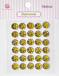 Yellow Diamonds Stickers - Queen & Co