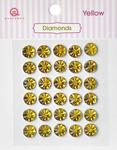 Yellow Diamonds Stickers - Queen & Co