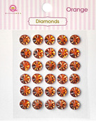 Orange Diamonds Stickers - Queen & Co