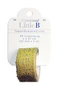 Gold 25mm Glitter Lace Washi Tape - Little B