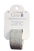 Silver 25mm Glitter Lace Washi Tape - Little B