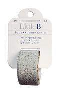 Silver 25mm Glitter Lace Washi Tape - Little B