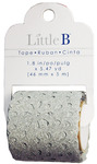 Silver 46mm Glitter Lace - Little B