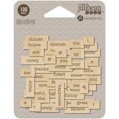 Celebrate Wood Veneer Wordfetti - Jillibean Soup