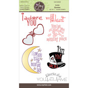 """Love Quotes - Joy Clair Clear Stamps 4""""X6"""""""